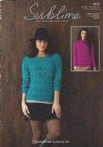 Sublime Superfine Alpaca DK - 6113 Woman's Round Neck & Cowl Neck Sweaters Knitting Pattern